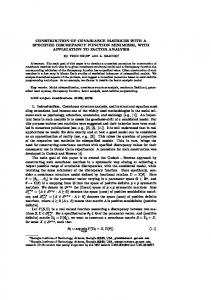 CONSTRUCTION OF COVARIANCE MATRICES WITH A ... - CiteSeerX