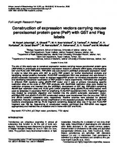Construction of expression vectors carrying mouse peroxisomal