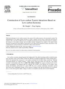 Construction of Low-carbon Tourist Attractions Based on Low ... - Core
