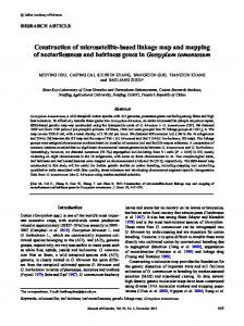 Construction of microsatellite-based linkage map and mapping of ...