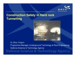 Construction Safety in Hard rock Tunnelling