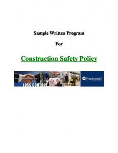 Construction Safety Policy