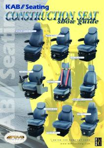 Construction Show Guide - KAB Seating
