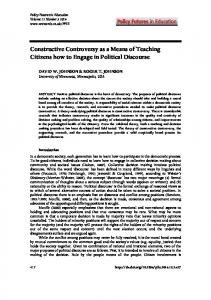 Constructive Controversy as a Means of Teaching