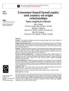 Consumer-based brand equity and country-of-origin ...