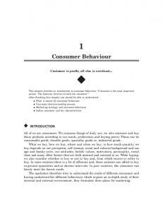 Consumer Behaviour - New Age International