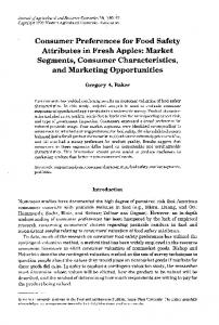 Consumer Preferences for Food Safety Attributes in ... - AgEcon Search