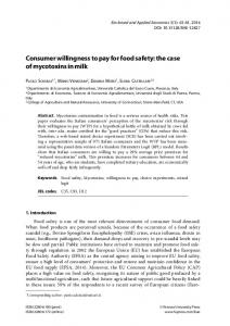 Consumer willingness to pay for food safety - Firenze University Press