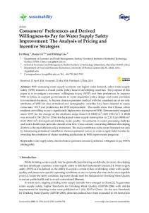 Consumers' Preferences and Derived Willingness-to-Pay for ... - MDPI
