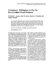 Consumers' Willingness to Pay for - AgEcon Search