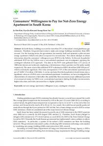 Consumers' Willingness to Pay for Net-Zero Energy Apartment ... - MDPI