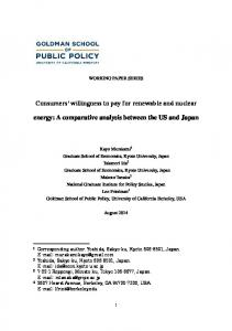 Consumers' willingness to pay for renewable and nuclear energy: A ...
