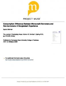 Consumpiton Difference Between Microcredit ...