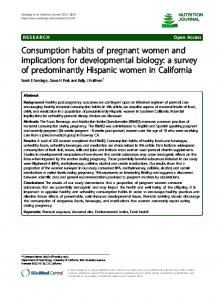 Consumption habits of pregnant women and