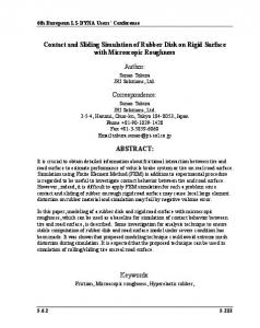 Contact and Sliding Simulation of Rubber Disk on Rigid ... - DYNAlook
