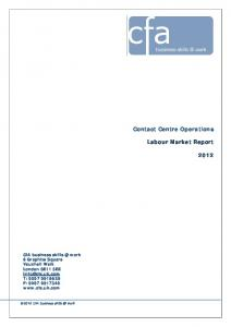 Contact Centre Operations Labour Market Report 2012