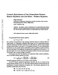 Contact Equivalence of the Generalized Hunter-Saxton Equation and