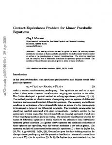 Contact Equivalence Problem for Linear Parabolic Equations
