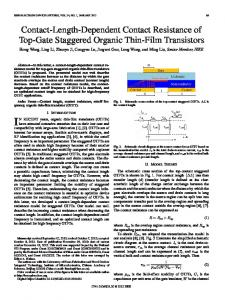 Contact-Length-Dependent Contact Resistance of Top ... - IEEE Xplore