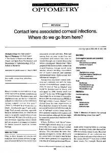 Contact lens associated corneal infections ... - Wiley Online Library