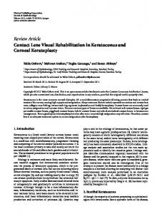 Contact Lens Visual Rehabilitation in Keratoconus and Corneal ...