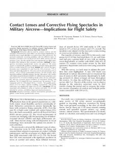 Contact Lenses and Corrective Flying Spectacles in