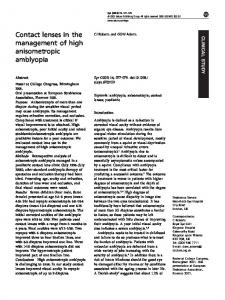 Contact lenses in the management of high anisometropic ... - Nature