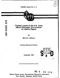 Contact Lenses in the U.S. Army Attack Helicopter Environment