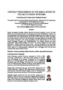 contact processing in the simulation of the multi-body ... - CiteSeerX