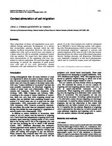 Contact stimulation of cell migration - Journal of Cell Science - The ...