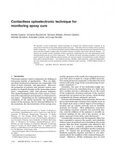 Contactless optoelectronic technique for monitoring epoxy cure