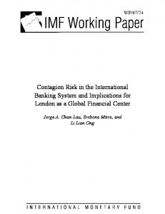Contagion Risk in the International Banking System and ... - IMF