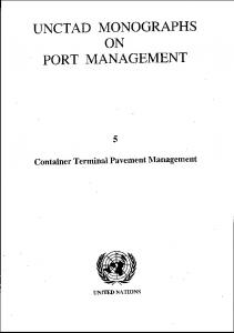 Container Terminal Pavement Management