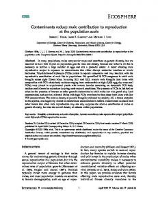 Contaminants reduce male contribution to ... - Wiley Online Library