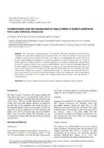 Contamination and risk assessment of heavy metals