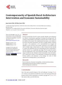 Contemporaneity of Spanish Rural Architecture Intervention and ...