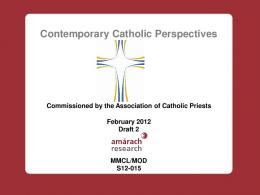 Contemporary Catholic Perspectives - Association of Catholic Priests