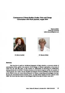 Contemporary Chinese Studies: Gender, Voice and Change ...