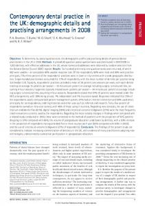 Contemporary dental practice in the UK: demographic details ... - Nature