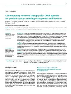 Contemporary hormone therapy with LHRH agonists