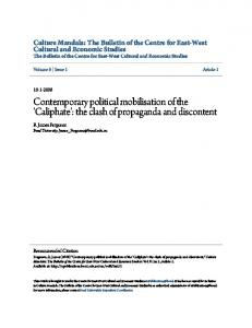 Contemporary political mobilisation of the 'Caliphate'