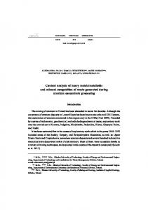 Content analysis of heavy metals/metalloids and mineral composition ...