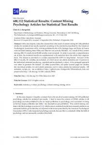 Content Mining Psychology Articles for Statistical ... - Versione online