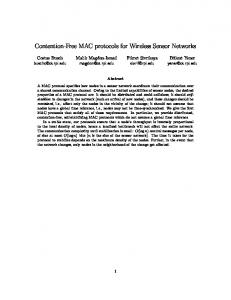 Contention-Free MAC protocols for Wireless ... - Semantic Scholarhttps://www.researchgate.net/...MAC.../Contention-Free-MAC-Protocols-for-Wireless-...