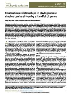 Contentious relationships in phylogenomic studies can ... - Amazon AWS