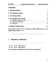 Contents 1 Statistical inference