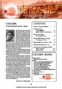contents editorial editorial board - International Society for ...