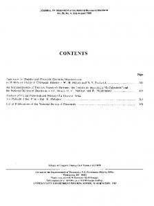contents - NIST Page