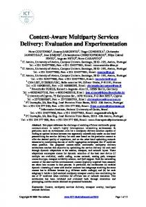 Context-Aware Multiparty Services Delivery