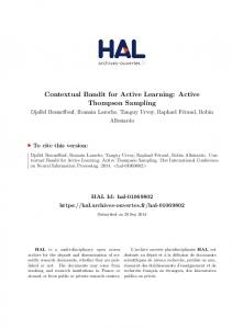 Contextual Bandit for Active Learning: Active Thompson Sampling - Hal